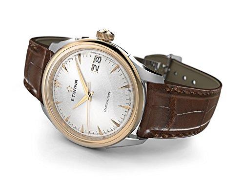 Eterna 1948 Legacy Big Date Automatik Uhr, Eterna 3030, 41,5 mm, 18Kt Roségold