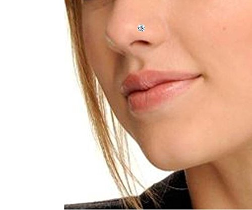 Peenzone 92.5 Silver White Nose Stud For Women 2