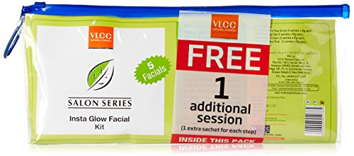 VLCC Insta Glow 5 Facial Kit, with 1 Free Additional Session