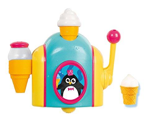 TOMY Schaumeismaschine – Wasserspielzeug für die Badewanne in farbenfrohem Design – Innovatives Rollenspiel fördert Geschicklichkeit – Ab 18 Monate