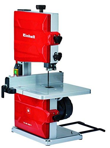 Einhell 4308018 TC-SB 200/1 - Sierra de Cinta, potencia de 250 W, ralentí 1.400min -1, velocidad de hoja 900 m/min, 6 dientes
