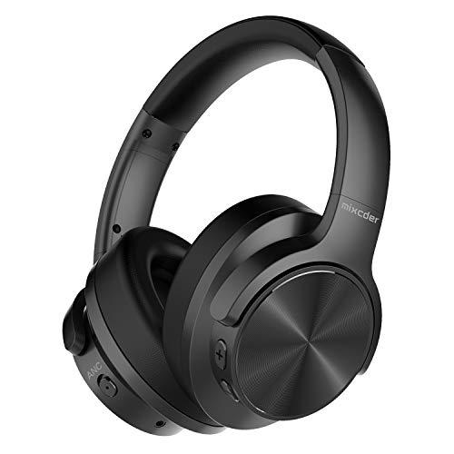 Mixcder E9 Cuffie Bluetooth con Cancellazione del Rumore Attivo,Cuffie Wireless con Microfono Hi-Fi Stereo Headset Deep Bass Wireless Cuffie Over Ear per PC/Cellulari/TV