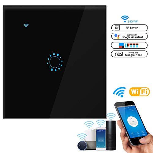 leegoal Interruttore Touch WiFi, EU Smart Toccare Wireless Intelligence Wall switches con Voice App Telecomando, Funzione di temporizzazione, Compatibile con Alexa e Google Home