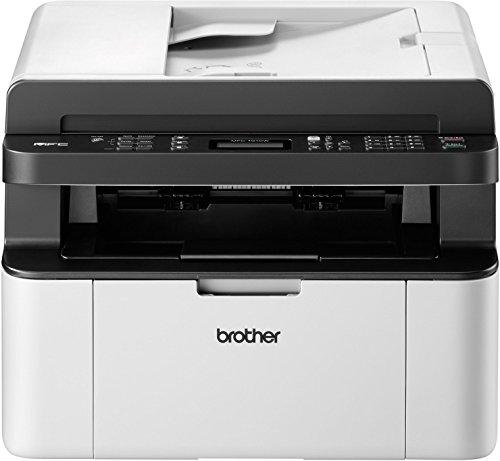 Brother MFC-1910W Kompaktes 4-in-1 Monolaser-Multifunktionsgerät (Drucken, scannen, kopieren, faxen, 20 Seiten/Min.) grau/weiß