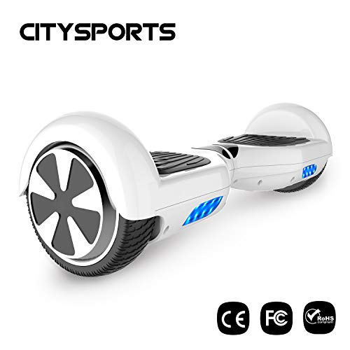CITYSPORTS Hoverboard 6.5 Pouces, Balance Board Smart Scooter 2x350W avec LED