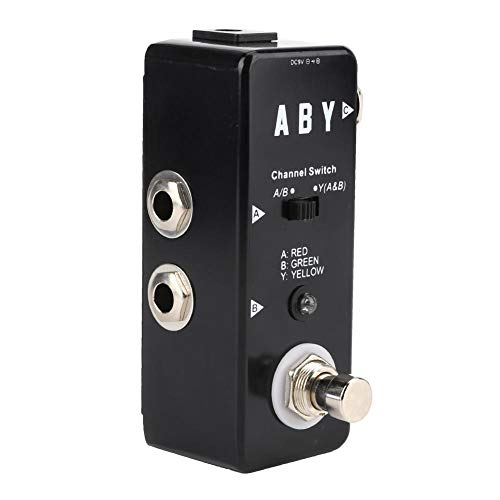 Guitar Effects,Durable ABY Line Black Guitar Effects Pedal True Bypass Aluminum Alloy Shell Guitar Accessories