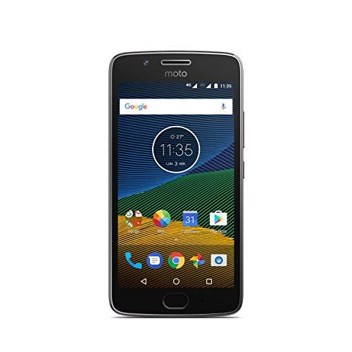 """Motorola Moto G5 - Smartphone Libre de 5"""" Full HD, 2.800 mAh de batería, cámara de 13 MP, 3 GB de RAM + 16 GB de Almacenamiento, procesador Snapdragon de 1.4 GHz, Color Gris"""