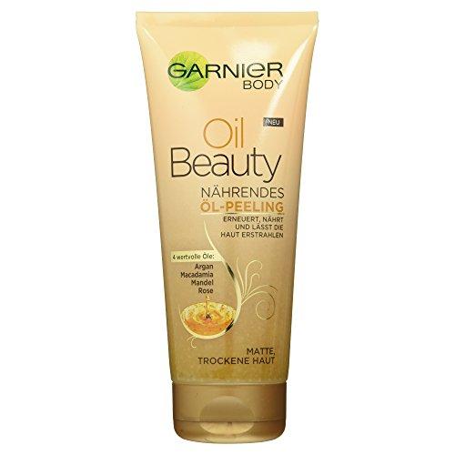 Garnier Oil Beauty Nährendes Öl-Peeling, Körperpeeling für porentiefe Reinigung, mit 4...