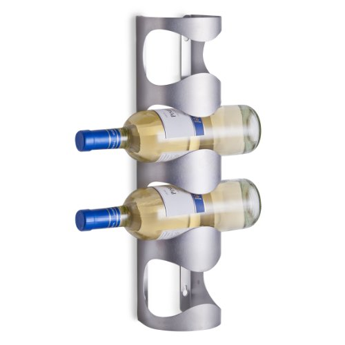 Zeller 27365 Portabottiglie, Argento, 45x9.8000000000000007x11.7 cm, metallo