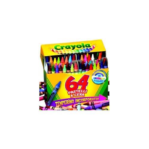 Crayola - 64 Pastelli a Cera, Modelli/Colori Assortiti, 1 Pezzo