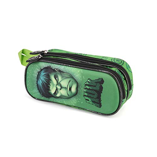 Karactermania Hulk Rage-3D Doppelfedermäppchen Astuccio, 22 cm, Verde (Green)