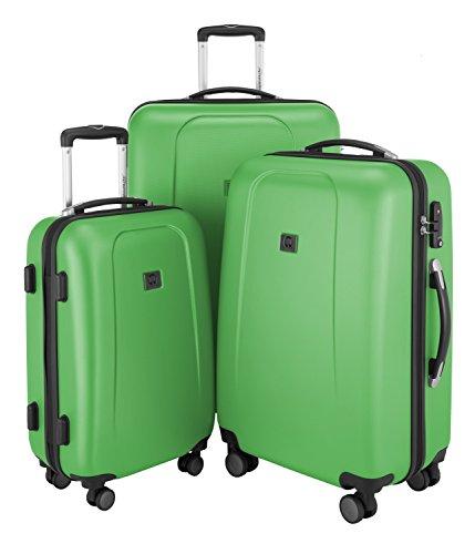 HAUPTSTADTKOFFER - Wedding - 3er Koffer-Set Trolley-Set Hartschalen-Koffer Rollkoffer Reisekoffer, TSA, (S, M & L), apfelgrün