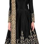 Gown For Women's Taffeta Silk Embrodery Anarkali Gown_Free Size