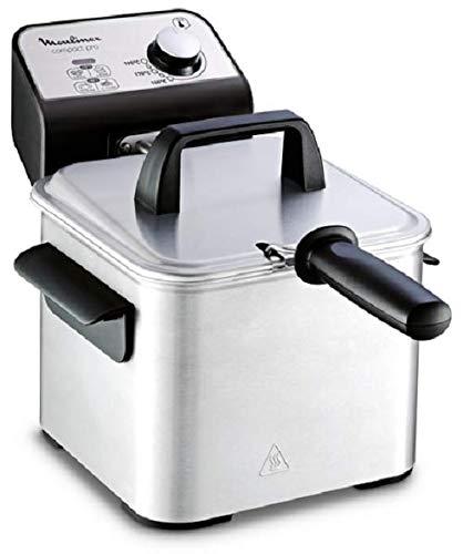 Moulinex Compact Pro AM3220 Freidora de 2 L de aceite y 600 g de alimento, cuba acero inoxidable extraíble, accesorio para freír a dos niveles, fácil limpieza, potencia de 1700 W, frituras homogeneas