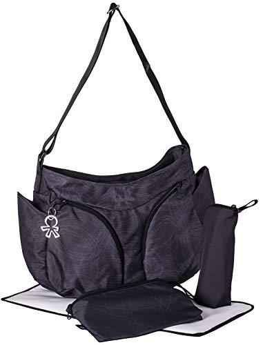 okiedog MONDO 39012 borsa per pannolini incl. accessori SCRIBBLES, nero