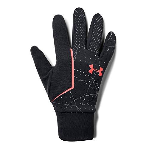 Under Armour, Mens Cgi Run Liner Glove, Guanto, Uomo, Nero (Nero/Bianco/After Burn), M