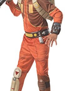 Rubies 's Kid' s Deluxe–Star Wars Rebeldes Ezra Bridger disfraz, tamaño mediano, edad 5–7, 4