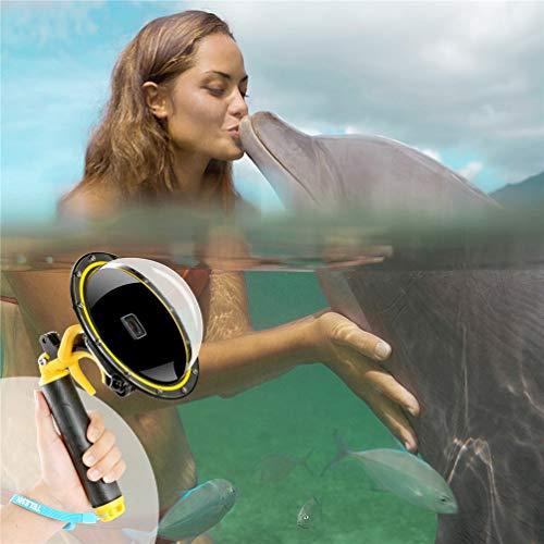 Per GoPro Dome Port, Accessori GoPro Per GoPro Hero 5 6 7 2018 Nero bianca sivler, Dome GoPro Custodia impermeabile con Pistol Trigger Shutter