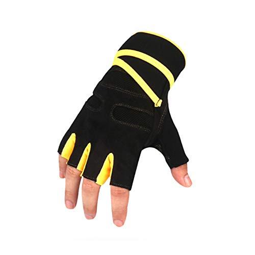 AAJewels Guanti sportivi per Uomo Estate guanti da polso ciclismo Giallo - L