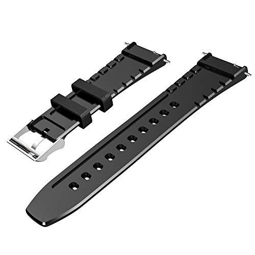 Yhjklm Sostituzione Cinturino Bovina capa di Strato Strap Watch Band Compatibile con Smart Guarda Kospet Prime Optimus PRO Optimus Speranza Coraggioso Lite (Colore : Nero, Dimensione : Taglia Unica)