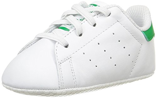 adidas Stan Smith Crib, Pantofole Unisex-Bimbi, Bianco (Ftwbla/Verde 000), 17 EU