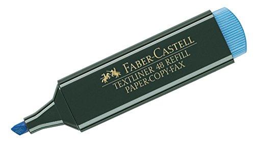 Faber-Castell 154851 - Textmarker Textliner 48, nachfüllbar, blau