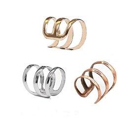 Naisicatar Oreille Wrap Clip Manchette Boucles D'oreilles Clip sur Oreille Clip d'oreille 1.4 * 1.3cm X 1