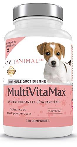 MAVITANIMAL Complejo Multivitamínico y Mineral para Cachorro con Beta Oxidante y Beta Caroteno - 180 Comprimidos
