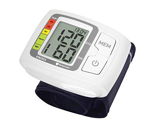 Homedics BPW-1005-EU Misuratore di Pressione da Polso, Misura Ipertensione, Ipotensione e Battito,...