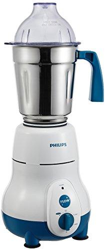Philips Hl1645 750-watt 3 Jar Super Silent Vertical Mixer Grinder and Blender Jar with Fruit Filter, Blue