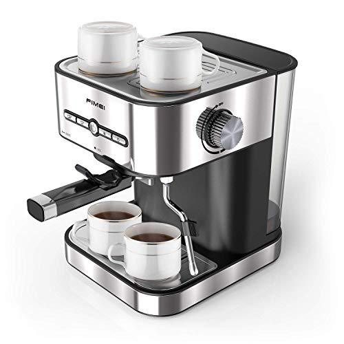 FIMEI Macchina Caffè, Macchina Caffè Espresso Italiano Manuale con Pompa 15 Bar in Acciaio Inox,...