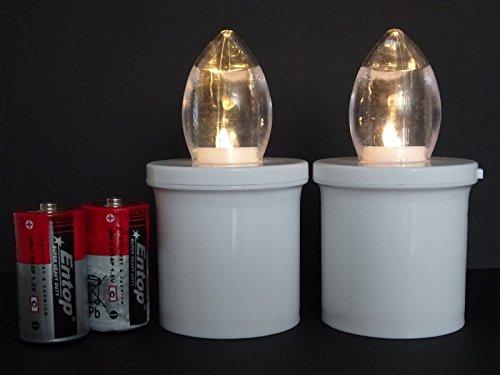 herzgitter.de 2pezzi LED tomba candele 270giorni Grab luci bianco & # x2191; 10,7X ø4,7cm...