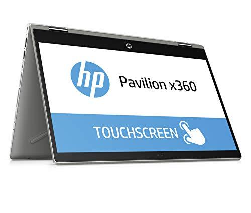 HP Pavilion x360 14-cd1003ng 35,5 cm (14 Zoll/Full HD IPS Touch) Convertible Notebook (Intel Core i5-8265U, 8 GB DDR4 RAM, 256 GB SSD, Intel UHD Grafik, Windows 10 Home) silber