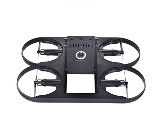RCDNE Drone con Telecamera WiFi FPV Drone Pieghevole RC Quadricottero 2.4G 6 Assi Gyro Altitudine Senza Testa modalità Hold Controllo App Mobile RC Drone,Black,720P
