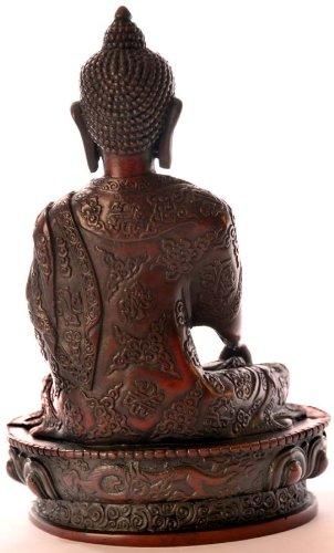 BUDDHAFIGUREN Estatua de Buda - Resina de Shakyamuni Buda Figura 19 cm rotbraun 5