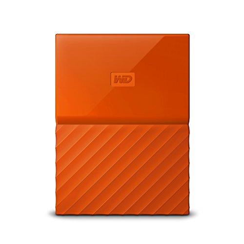 WD 2TB My Passport Hard Disk Esterno Portatile, USB 3.0, Arancione - WDBYFT0020BOR-WESN