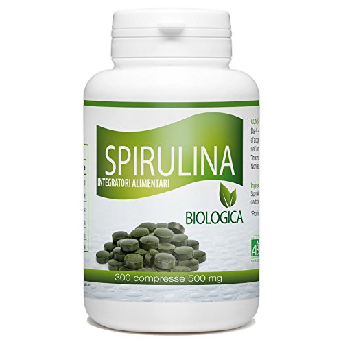 Spirulina Biologica - 500mg - 300 compresse