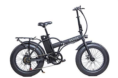 REVOE Dirt Vtc, Bicicletta Elettrica Pieghevole 20' Misto Adulto, Nero