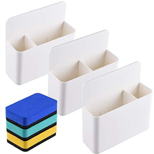 SIQUK 3 Packs Magnetic Marker Holder Whiteboard Marker Organizer Porta penna magnetica Dry Erase...
