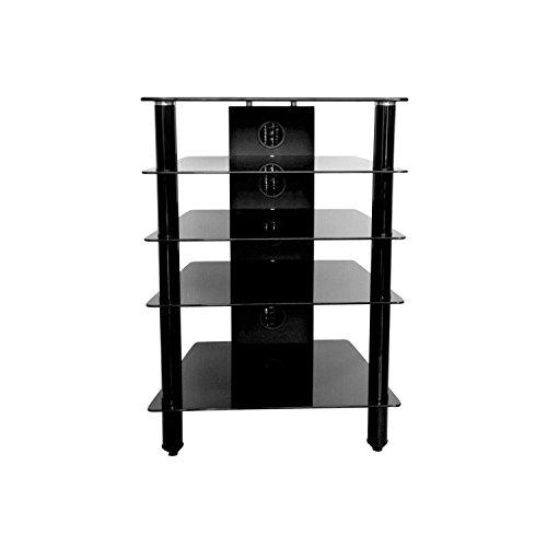 MMT Furniture Designs HFBLK610 base da pavimento per tv a schermo piatto Supporto fisso da pavimento...