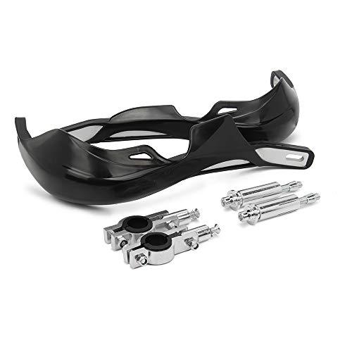 Paramani per moto Dirt Bike Protezioni per le mani Universale Per manubri da 22MM 28MM - nero