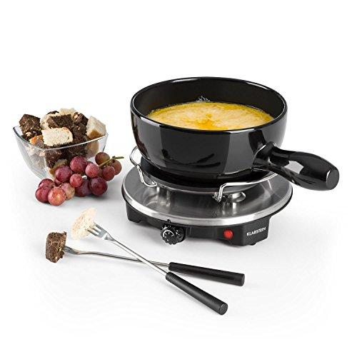 Klarstein Sirloin - Fonduta di formaggio, Grill party, Pentola in ceramica smaltata, Potenza 1200 W,...