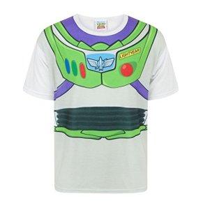 Toy Story Disney - Camiseta Disfraz de Buzz Lightyear Personaje niños (3-4 Años) (Blanco)