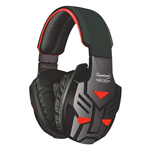 Quantum Quantum Qhmpl Qhm855 Stereo Headset Mic Vibration Bass Gaming Movie Music (Blue/Red)