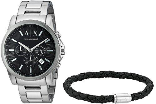 Armani Exchange Orologio Cronografo Quarzo Uomo con Cinturino in Acciaio Inox AX7100