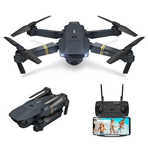 EACHINE Drone con Telecamera, E58 Pieghevole Drone con WiFi FPV HD 720P App Mobile Controllo Grandangolare Selfie Drone modalità di Attesa in Altitudine