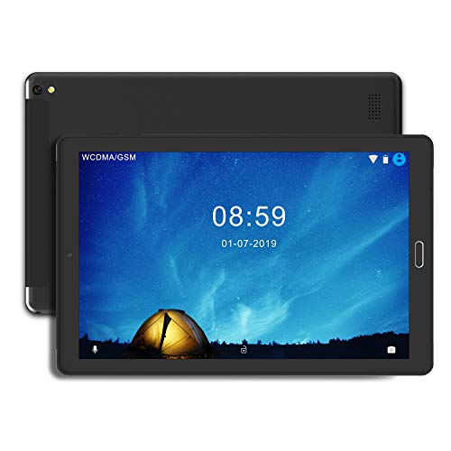Tablet 10 Pollici Tablet Android 8.0 4G con 3 slot (Dual SIM + SD) Processore Quad Core, 1.5GHz 3G +...