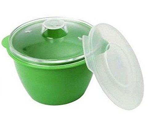 Dexam – Recipiente para microondas (0,2 L, policarbonato y plástico, 3 piezas, 2 tapas)