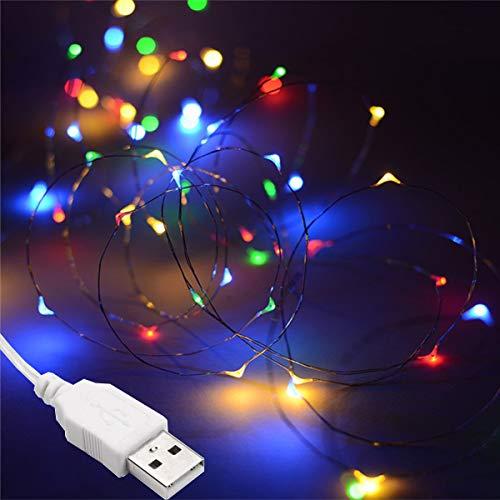 Salcar LED colorati corda leggera a 10 metri / 33 piedi 100 diodi all'interno filo di rame Micro per...