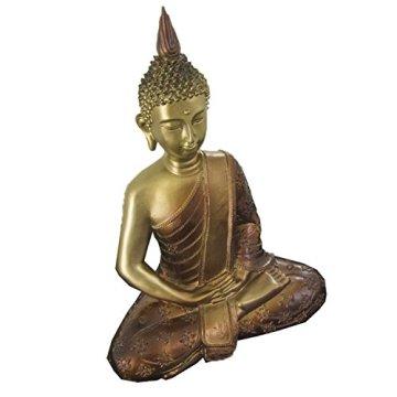 Figura buda iluminado de resina en color dorado y marrón   Tamaño: 29x13x40 cm   Portes gratis 11